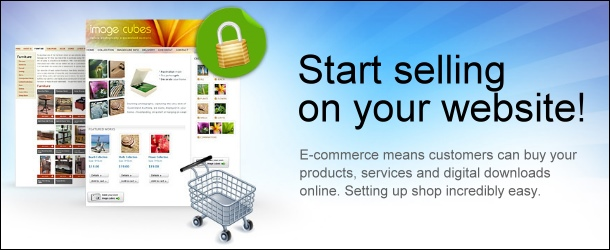 Sell your products and services on your website with our Ecommerce shopping cart